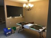 Dining room/paint centre.