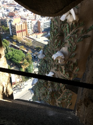 View down from Sagrada Familia basilica