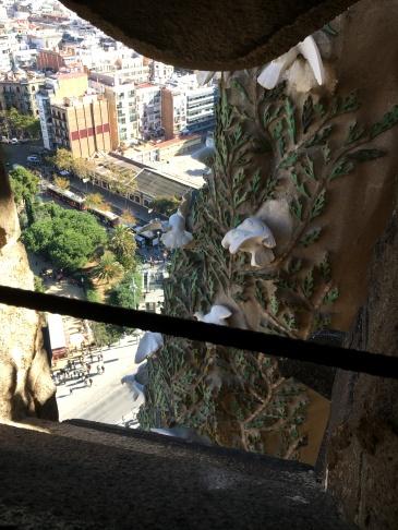 View down from Sagrada Familia basilica