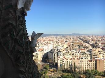 Barcelona from Sagrada Familia basilica