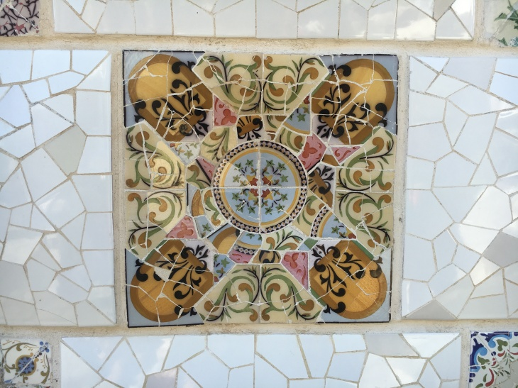 Tiles at Parc Güell