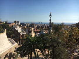 Barcelona view from Parc Güell